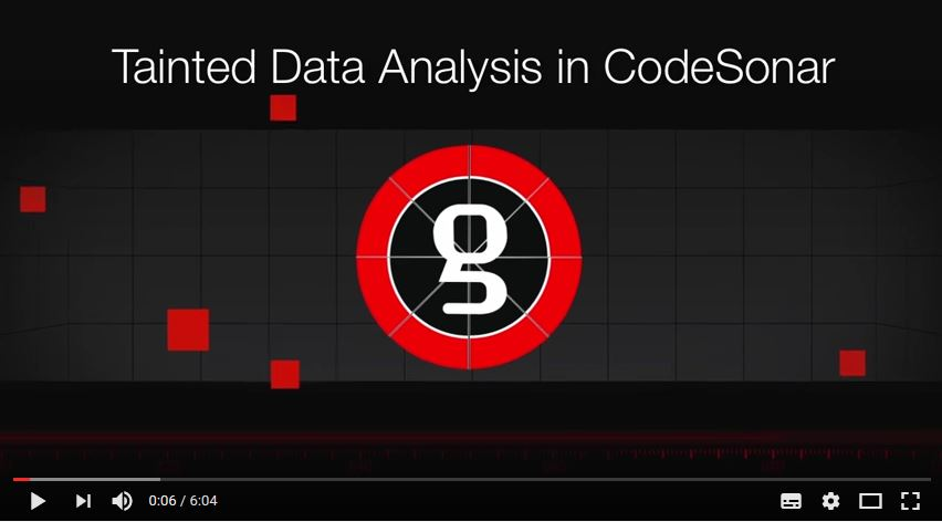 Tainted Data Analysis in CodeSonar