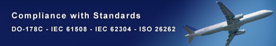 Compliance with DO178-C, EN 61508, EN 62304, ISO 26262